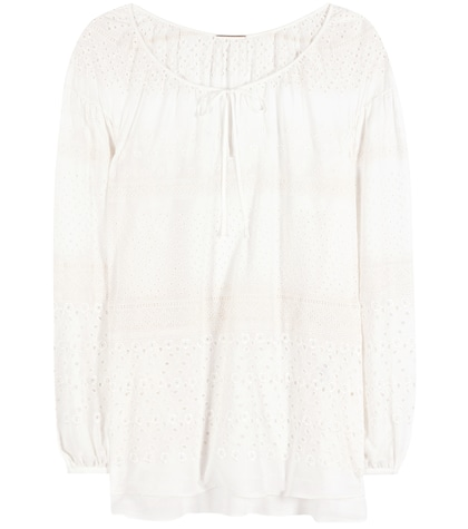 saint laurent female embroidered blouse