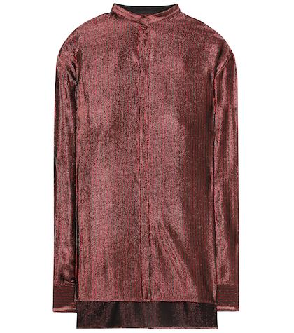 Wool and silk striped shirt