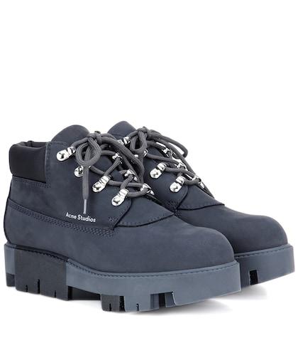 acne studios female tinne leather boots
