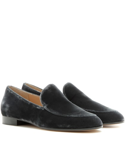 gianvito rossi female marcel velvet loafers