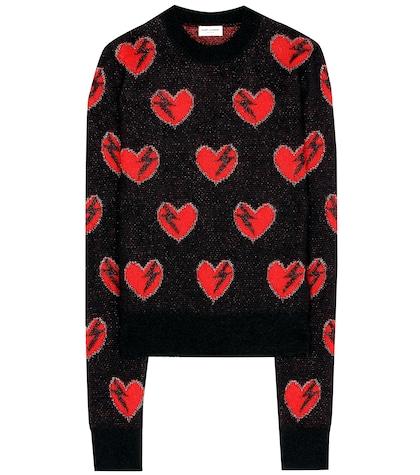 saint laurent female mohairblend sweater