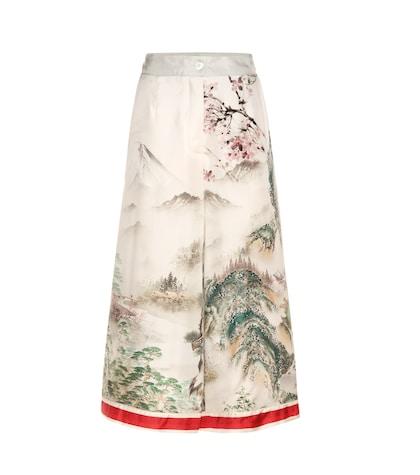 Printed Silk Culottes