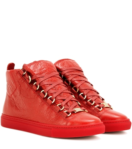 Arena High-top Leather Sneakers