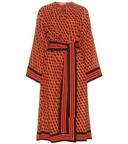 michael kors female 250960 printed silk dress