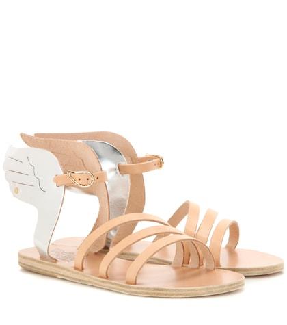 Ikaria Metallic Leather Sandals