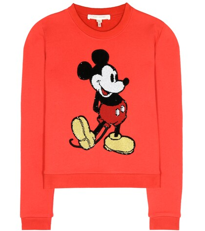 marc jacobs female embellished cotton sweatshirt