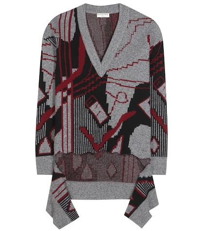 Printed Knitted Wool-blend Sweater