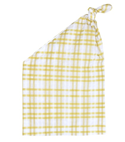 rosie assoulin female the top knot plaid top