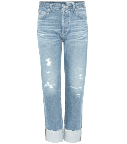 ag jeans female 201920 the sloan distressed jeans