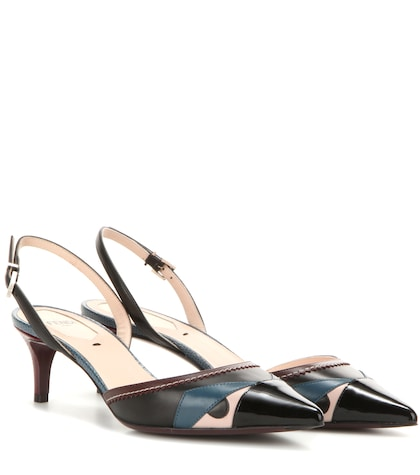 fendi female leather pumps
