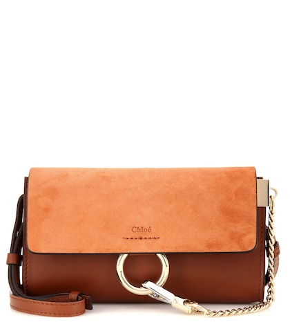 Faye Mini Leather And Suede Wallet Bag