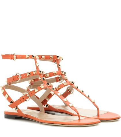 valentino female valentino garavani rockstud leather sandals