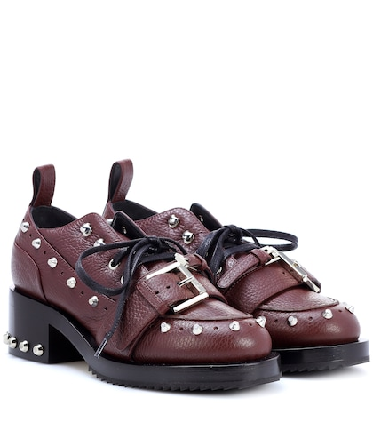 Studded leather shoes