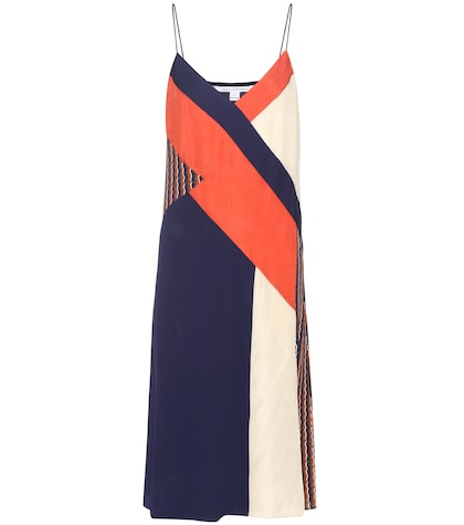 diane von furstenberg female frederica patchwork silk dress