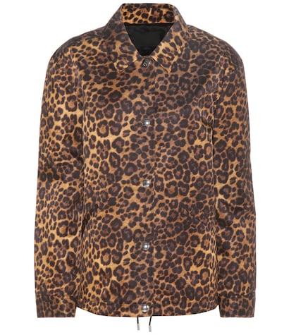 alexander wang female leopard printed jacket
