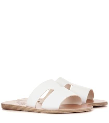 ancient greek sandals female apteros leather sandals