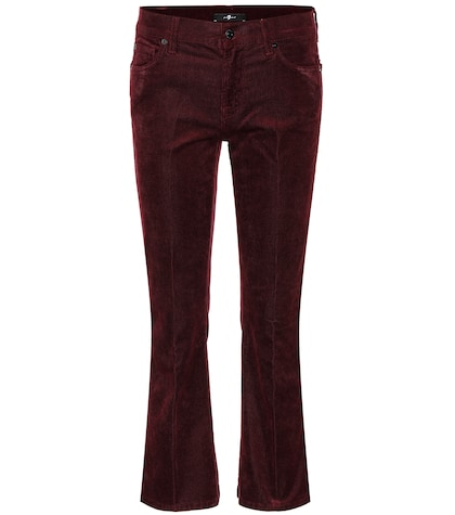 Cropped bootcut corduroy jeans