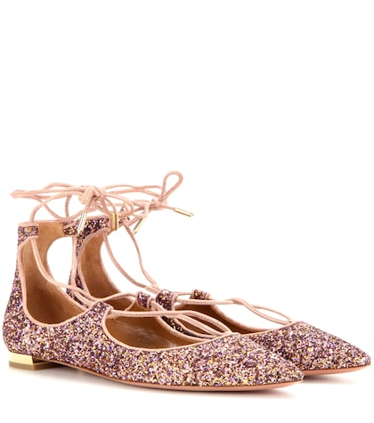 Christy Flat Glitter Ballerinas