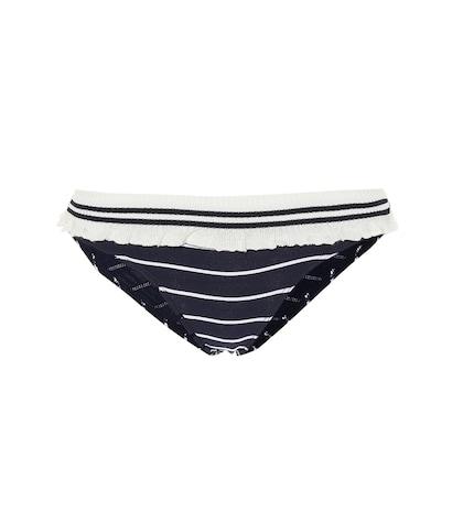 Culotte de bikini à rayures