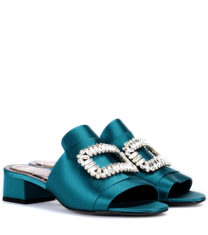 Exclusive to mytheresa.com – Slipper New Strass satin sandals