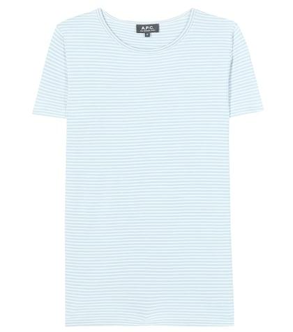 apc female 201920 helen printed striped cotton tshirt