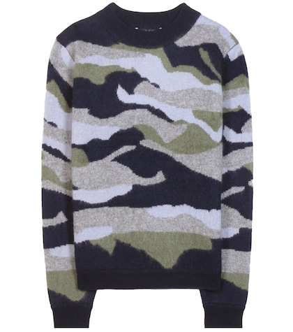 81hours female cit jq camouflage cashmere sweater