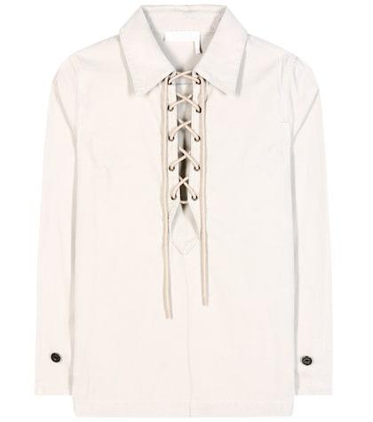 Corduroy cotton shirt