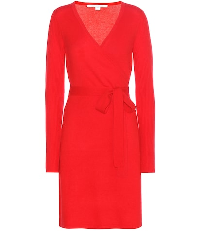 Kerry wool and cashmere wrap dress