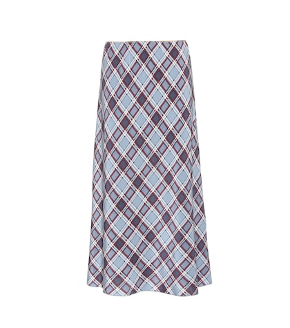 marc jacobs female printed silk skirt
