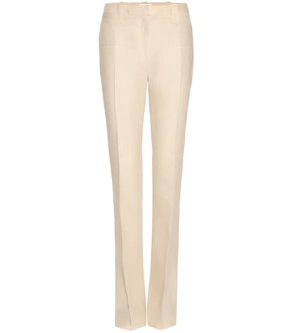 altuzarra female serge linen trousers