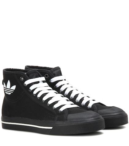adidas by raf simons female 188971 matrix spirit hightop canvas sneakers