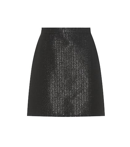 apc female 188971 ada metallic cottonblend miniskirt