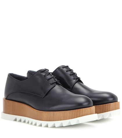 Platform Leather Derby Shoes