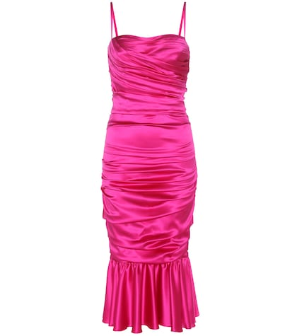 Stretch-silk satin dress
