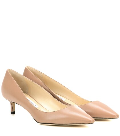 jimmy choo female romy 40 leather pumps