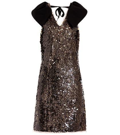 Sleeveless sequinned dress