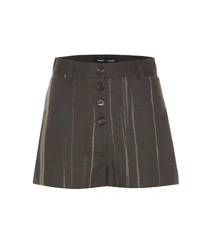 proenza schouler female printed cotton shorts