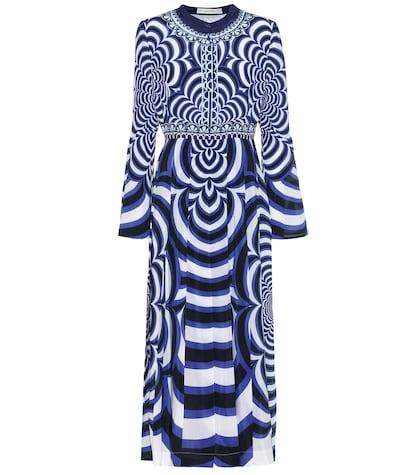 Desmine printed silk dress