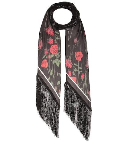 Roses Classic silk scarf