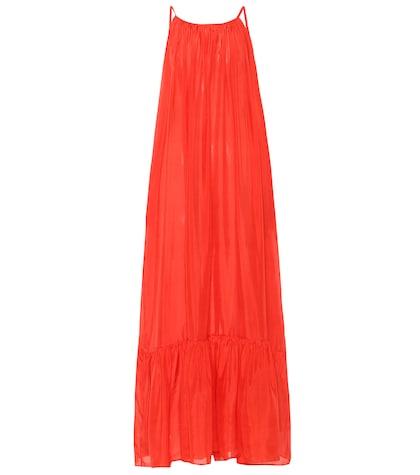 Brigitte silk maxi dress