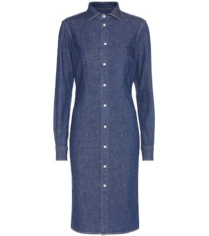 Stretch-cotton denim dress