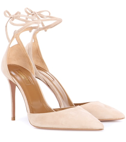 Heart Breaker 105 suede pumps