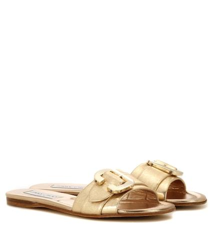 Nessa Metallic Leather Sandals