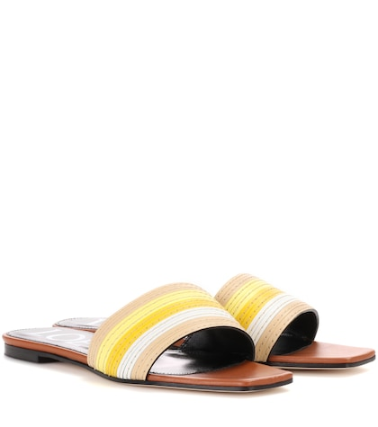 loewe female slipon leather sandals
