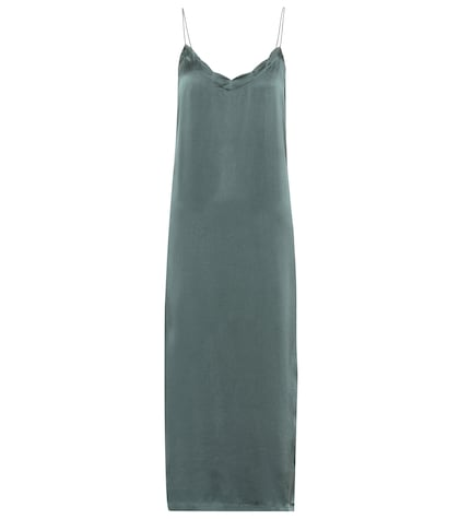 Urgent silk slip dress