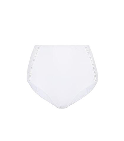 Culotte de bikini à taille haute et perles fantaisie