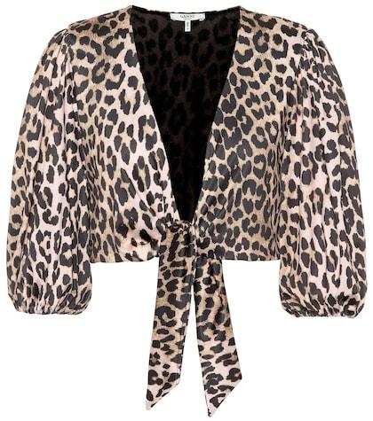 Avalon leopard bikini top
