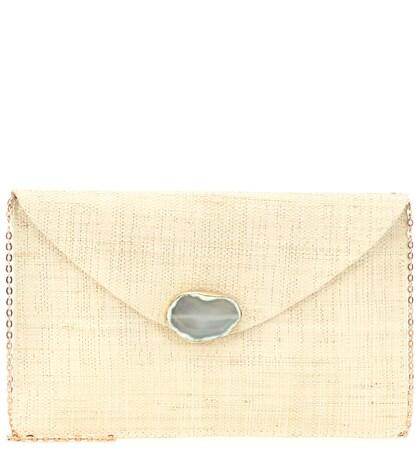 Capri straw clutch