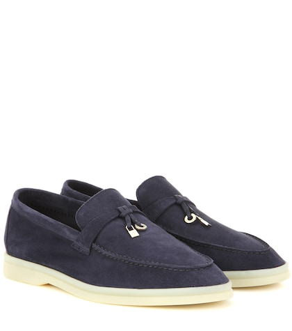 Summer Charms Walk Embellished Suede Loafers