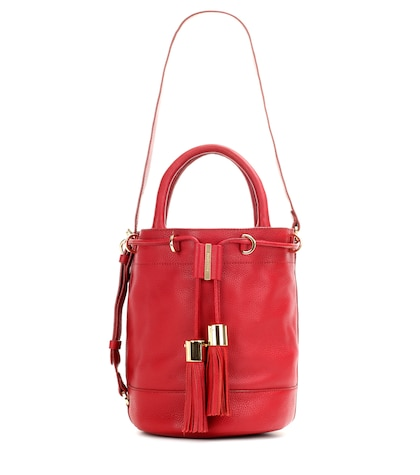see by chloe female vicki large leather bucket bag